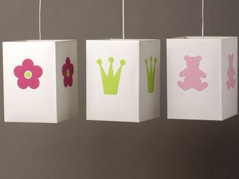 Voila Ma Maison - suspension coton blanc gm - Children's Hanging Decoration