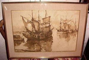 ACI Antiquités - lavis - Watercolour
