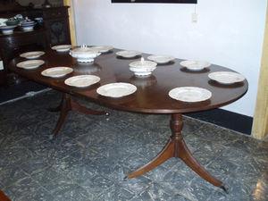ANTIGÜEDADES BRITANIA - table de repas à rallonge sheraton - Extending Leaf Table
