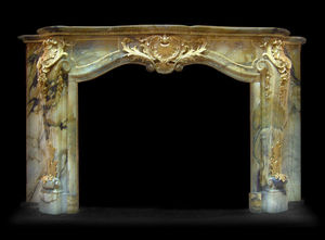 Abj Cheminees Anciennes - cheminée louis xv - Fireplace Mantel