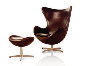 Fritz Hansen - egg - Armchair And Floor Cushion