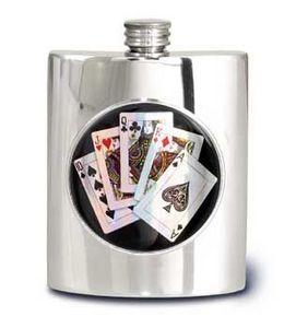 Alchemy Pewter Of Sheffield - 6oz kidney flasks - Flask