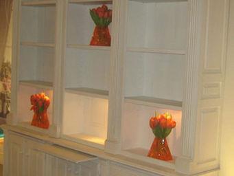 Luc Perron - bibliothèque sur mesure louis xvi halogènes - Bookcase