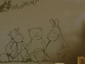 ApplePie Design - friends and tree - Children's Decorative Sticker