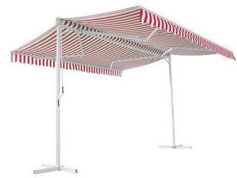 UsiRama.com - abri store de voiture à double pente papillon 4x4 - Car Shelter
