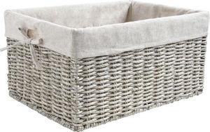 Aubry-Gaspard - corbeille en maïs gris et jute pour rangement 38x3 - Storage Basket