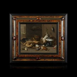 Expertissim - jan van kessel le jeune. nature morte au brocard e - Decorative Painting