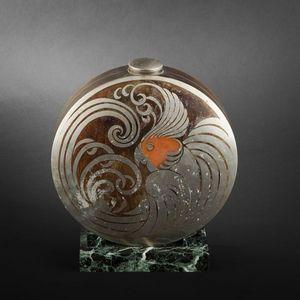 Expertissim - jean verschneider. vase circulaire et son bouchon  - Stem Vase