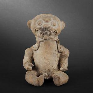 Expertissim - félin assis en terre cuite. equateur, jama coaque - Pre Columbian Object