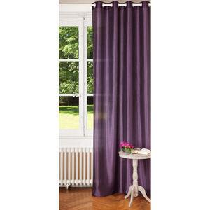 Maisons du monde - rideau satiné myrtille - Eyelet Curtain