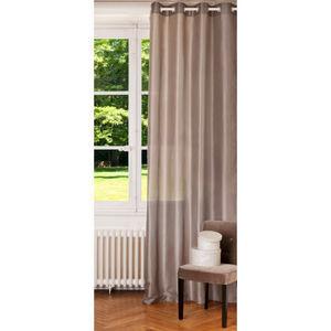 Maisons du monde - rideau beige satine - Eyelet Curtain