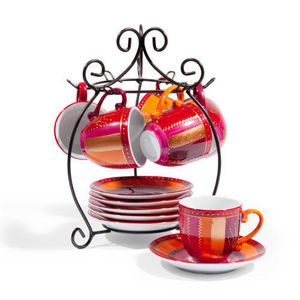 Maisons du monde - support 6 tasses et soucoupes soprano - Cup Holder