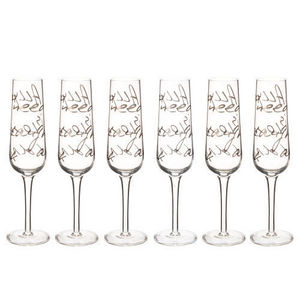 Maisons du monde - coffret 6 flûtes all you need - Champagne Flute