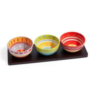 Maisons du monde - apéritif 3 coupelles et plateau cuzco - Small Dish