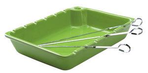 DM CREATION - plat spécial brochettes anis en grès avec 6 piques - Baking Tray