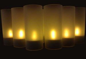 SUNCHINE - 6 bougies led fonction souffle - Outdoor Candle