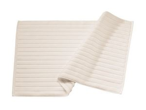 BLANC CERISE - tapis de bain ficelle - coton peigné 1000 g/m² - Bathmat