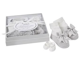 Mathilde M - coffret mes premiers pas bébé fille (3 paires de c - Newborn Gift Box