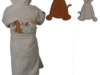 SIRETEX - SENSEI - peignoir enfant brodée doggy dog - Children's Dressing Gown