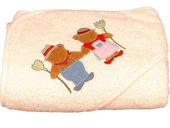 SIRETEX - SENSEI - cape de bain brodée ours fermier - Hooded Towel
