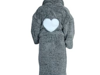 SIRETEX - SENSEI - peignoir enfant polaire antares brodée coeur - Children's Dressing Gown