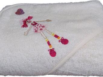 SIRETEX - SENSEI - cape de bain brodée princesse lulu - Hooded Towel