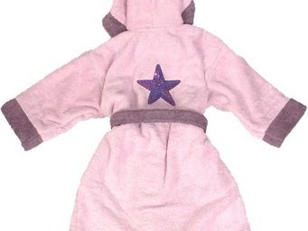 SIRETEX - SENSEI - peignoir enfant bicolore capuche brodé star - Children's Dressing Gown