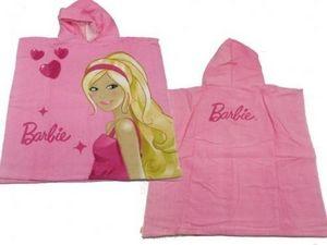 BARBIE - cape de bain barbie heart rose - Children's Dressing Gown