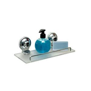 WHITE LABEL - etagère en acrylique et 2 ventouses - Bathroom Shelf