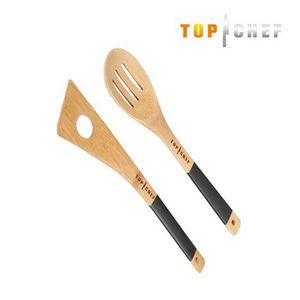 WHITE LABEL - cuillère à trou et cuillère ajourée en bambou top  - Cutlery Service