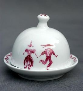 Porcelanne -  - Individual Butter Dish