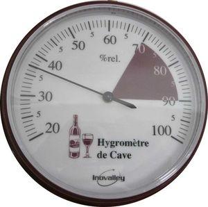 Inovalley S.A.S. - thermomètre hygromètre de cave de 20 à 100% - Wine Thermometer