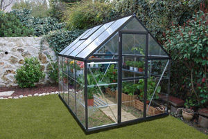 Chalet & Jardin - serre victorienne polycarbonate et alu 4,65m² - Greenhouse