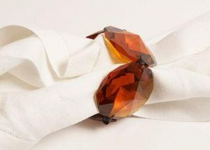Spina - amber crystal - Napkin Ring