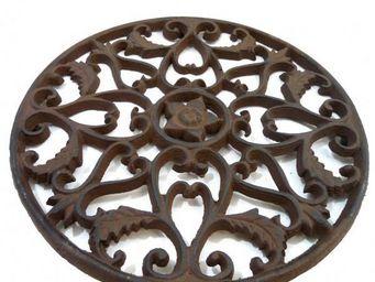 L'HERITIER DU TEMPS - centre de table en fonte marron - Plate Coaster