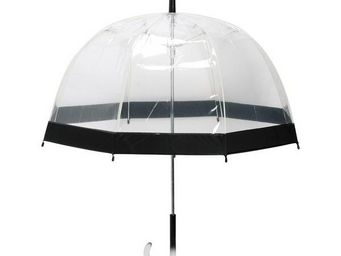 La Chaise Longue - parapluie transparent noir - Umbrella