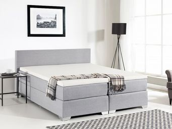 BELIANI - president light gris - Double Bed
