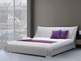 BELIANI - lit nantes gris - Double Bed