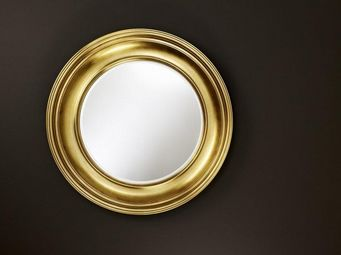 WHITE LABEL - rosie miroir mural design en verre couleur or - Porthole Mirror