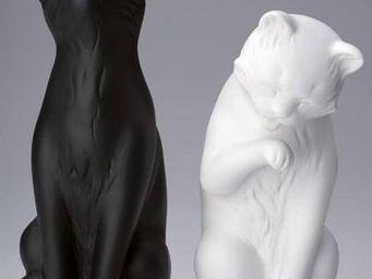 La Chaise Longue - serre-livres chats noir et blanc (lot de 2) - Book End