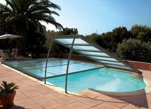 Sun Abris - relevable- - Low Removable Pool Enclosure