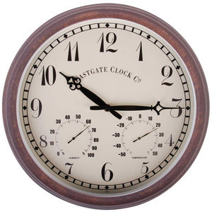WORLD OF WEATHER - horloge thermomètre hygromètre extérieure - Wall Clock