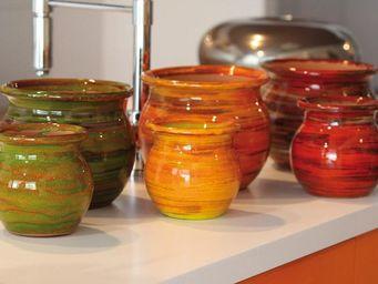Les Poteries D'albi - pivoine - Kitchen Jar