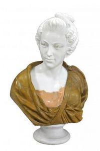 Demeure et Jardin - buste femme au chignon - Bust Sculpture
