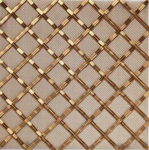 BRASS - g02 002 5x25 - Decorative Mesh