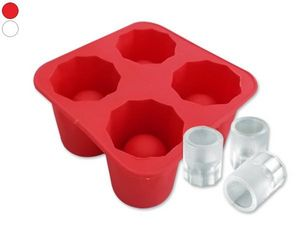 WHITE LABEL - moule pour 4 glacons verres shooter blanc ou gatea - Ice Tray
