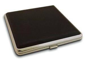 WHITE LABEL - boite à cigarette noir pour fumeur boite accessoir - Cigarettes Case