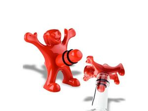WHITE LABEL - le bouchon de bouteille happy man deco maison uste - Decorative Bottle Stopper