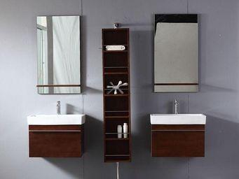 UsiRama.com - double meubles salle de bain colonne tournante gr - Double Basin Unit