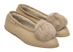 BABBI - coyote nappa vanille - Slippers